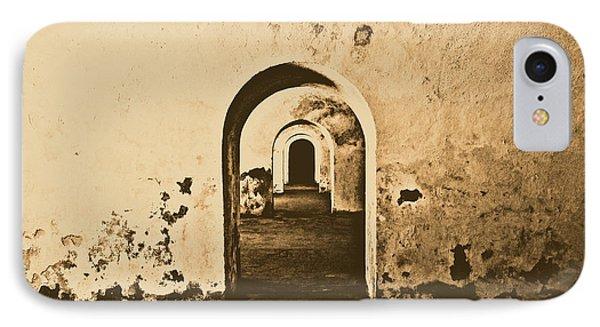 El Morro Fort Barracks Arched Doorways San Juan Puerto Rico Prints Rustic Phone Case by Shawn O'Brien