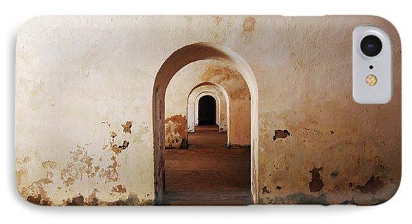 El Morro Fort Barracks Arched Doorways San Juan Puerto Rico Prints Phone Case by Shawn O'Brien