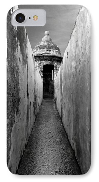 El Morro In Black And White IPhone Case