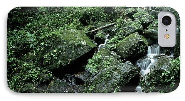 El Yunque National Forest Rocks And Waterfall Phone Case by Thomas R Fletcher