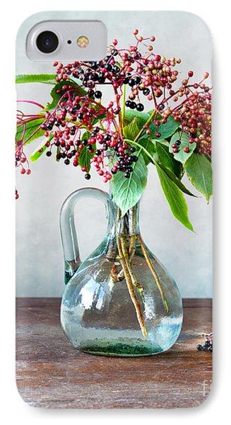 Elderberries 06 IPhone Case by Nailia Schwarz