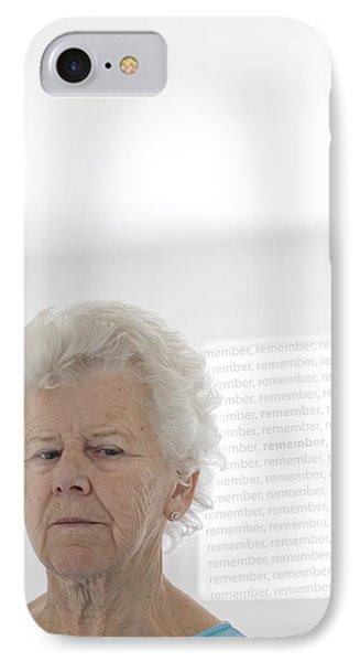 Elderly Woman IPhone Case by Cristina Pedrazzini