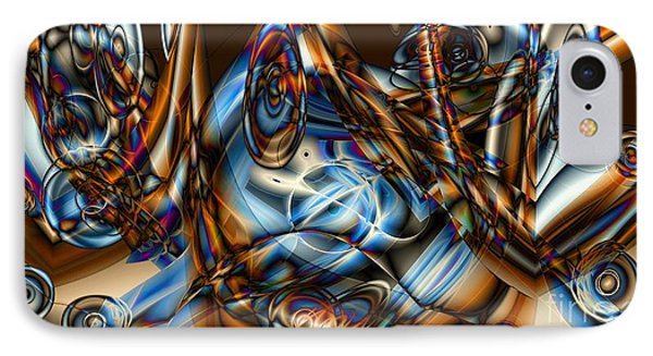 Electric Blue Phone Case by Ron Bissett