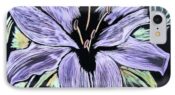 Electric Lily Phase Two IPhone Case by Lisa Brandel