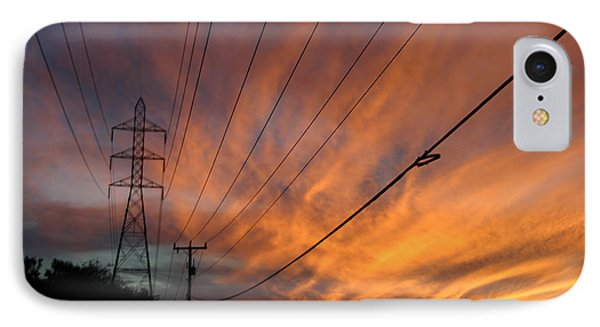 Electric Sunset Phone Case by Nina Fosdick