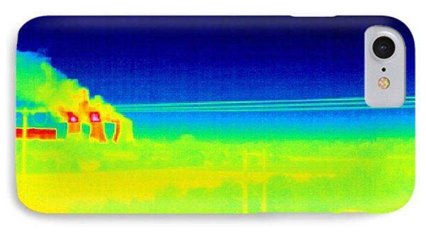 Electricity Power Lines, Thermogram IPhone Case by Tony Mcconnell