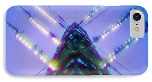 Electricity Power Pylon Phone Case by Richard Kail