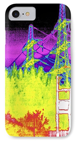 Electricity Pylons, Thermogram IPhone Case by Tony Mcconnell