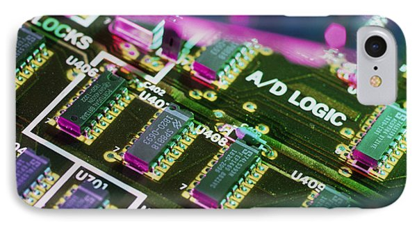 Electronic Circuit Board From A Computer IPhone Case