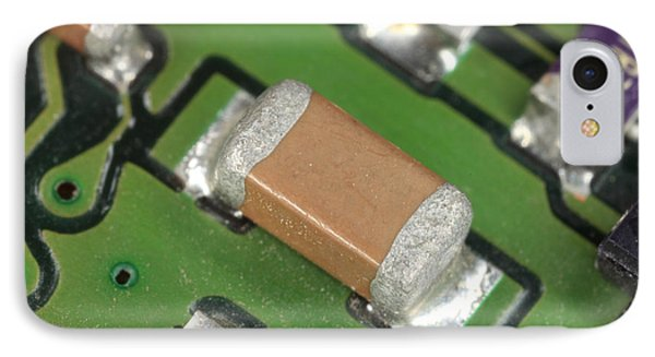 Electronics Board With Lead Solder Phone Case by Ted Kinsman