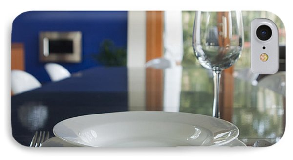 Elegant Place Setting In A Dining Room IPhone Case by Marlene Ford