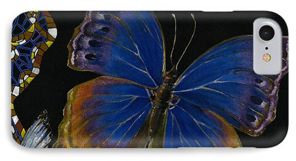 Elena Yakubovich - Butterfly 2x2 Lower Right Corner Phone Case by Elena Yakubovich