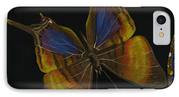 Elena Yakubovich - Butterfly 2x2 Top Left Corner IPhone Case by Elena Yakubovich