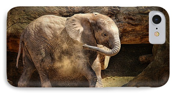 Elephant Calf IPhone Case by Larry Marshall