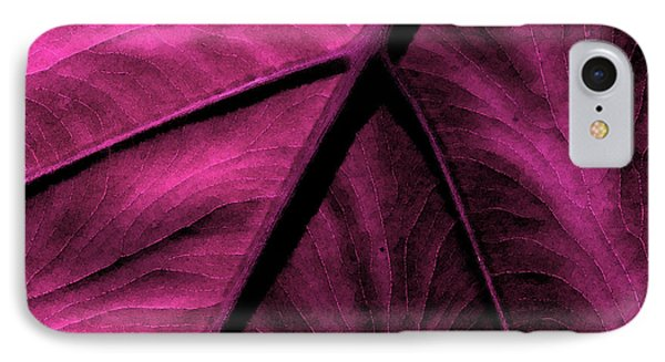 Elephant Leaf Abstract IPhone Case by Bonnie Bruno