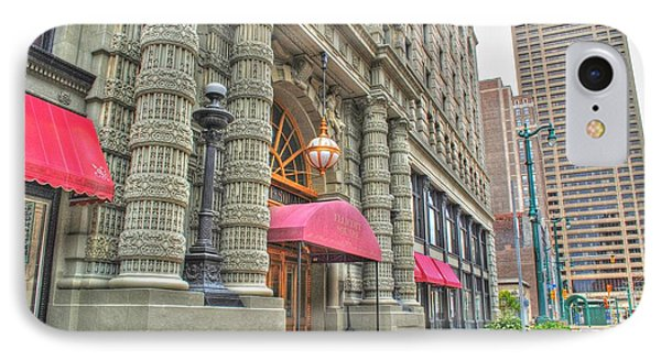 IPhone Case featuring the photograph Ellicott Square Building And Hsbc by Michael Frank Jr