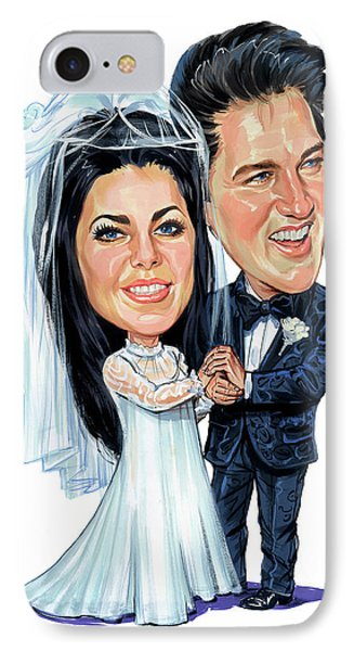 Elvis And Priscilla Presley IPhone Case