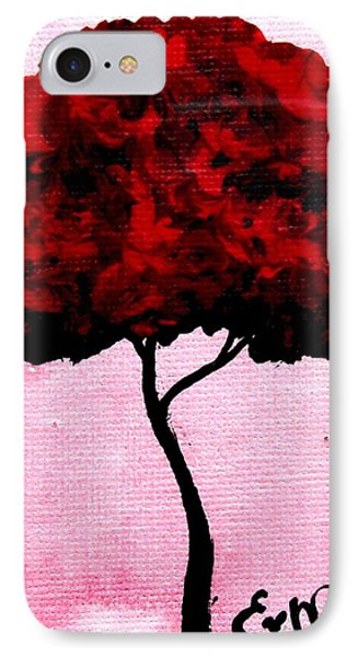 Emily's Trees Red Phone Case by Lizzy Love of Oddball Art Co