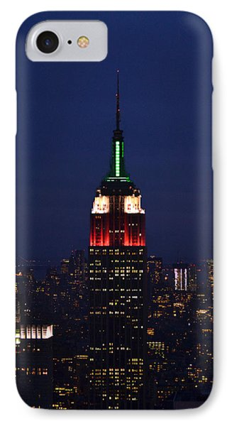 Empire State Building1 IPhone Case by Zawhaus Photography