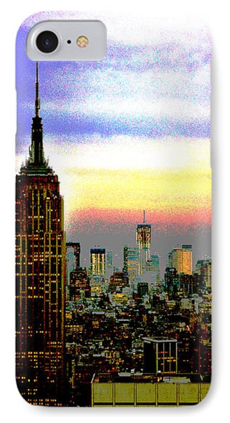 Empire State Building4 IPhone Case by Zawhaus Photography