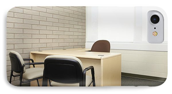 Empty Desk In An Office Phone Case by Skip Nall