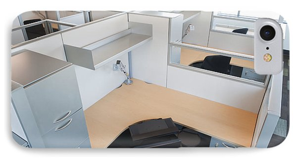 Empty Office Cubicles IPhone Case by Jetta Productions, Inc