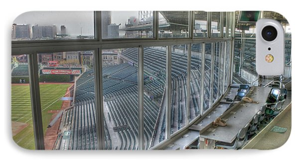Empty Pressbox IPhone Case by David Bearden