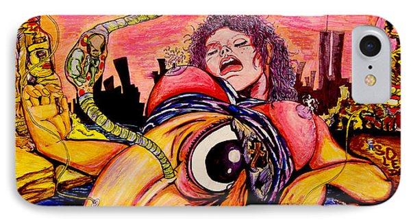 IPhone Case featuring the painting En El Bano De Soledad by eVol  i
