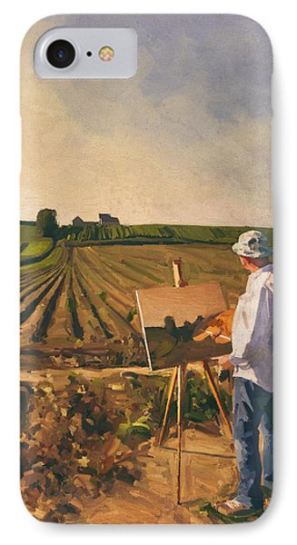 En Plein Air Painter Self Portrait IPhone Case