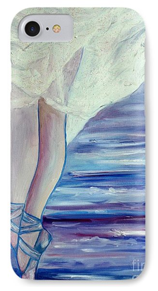 IPhone Case featuring the painting En Pointe by Julie Brugh Riffey