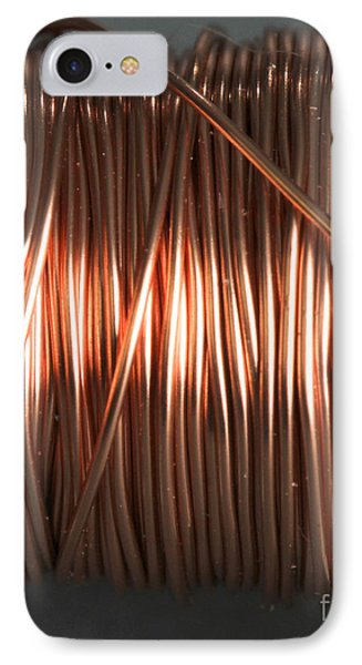 Enamel Coated Copper Wire IPhone Case by Photo Researchers