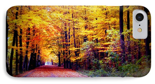 Enchanted Fall Forest Phone Case by Carol Groenen