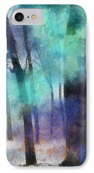 Enchanted Forest. Painting With Light Phone Case by Jenny Rainbow