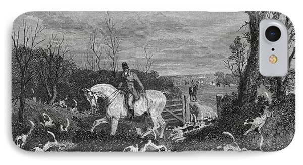 England: Fox Hunt, 1833 Phone Case by Granger