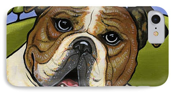 English Bull Dog Phone Case by Leanne Wilkes