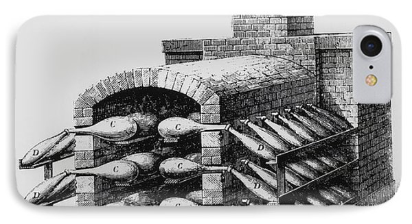 Engraving Of Early Kiln For Making Sulphuric Acid IPhone Case by
