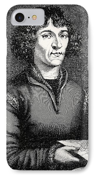 Engraving Of Nicolas Copernicus, Polish Astronomer Phone Case by Dr Jeremy Burgess