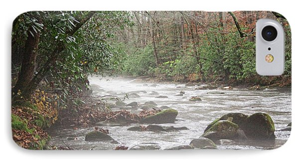 Enhanced Fog On The River IPhone Case by Michael Waters