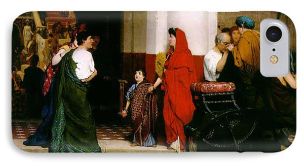 Entrance To A Roman Theatre Phone Case by Sir Lawrence Alma-Tadema