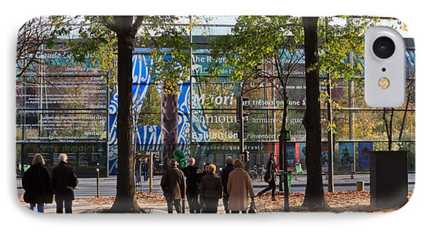 Entrance To Musee Branly In Paris In Autumn Phone Case by Louise Heusinkveld