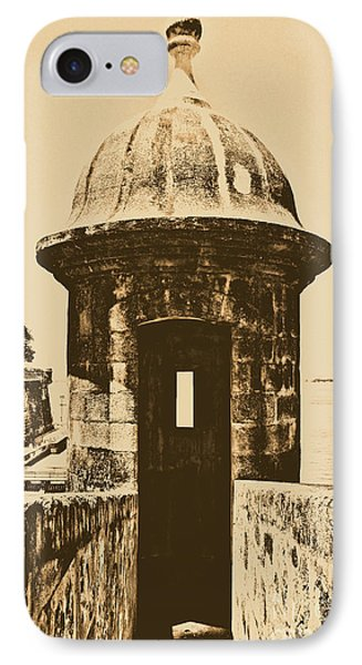 Entrance To Sentry Tower Castillo San Felipe Del Morro Fortress San Juan Puerto Rico Rustic Phone Case by Shawn O'Brien
