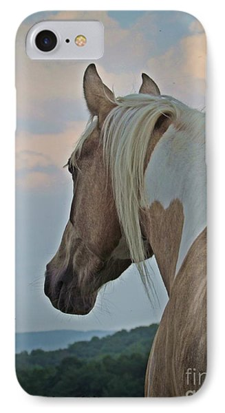 IPhone Case featuring the photograph Equine Study - Paint Horse by Laurinda Bowling