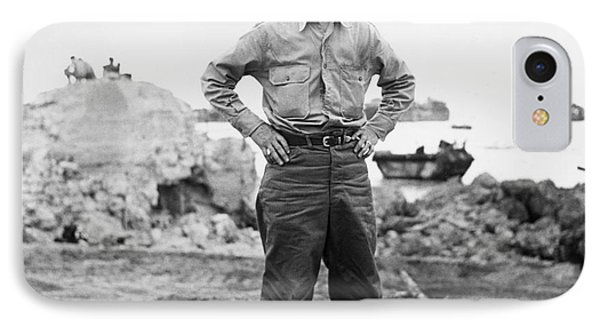 Ernie Pyle (1900-1945). American Journalist. Photograph, C1942 Phone Case by Granger