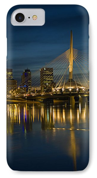 Esplanade Bridge Over Red River Phone Case by Mike Grandmailson