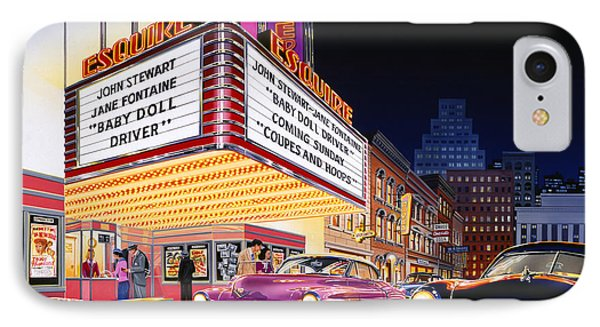 Esquire Theater IPhone Case by Bruce Kaiser
