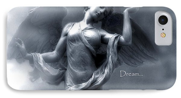 Ethereal Dreamy Surreal Heavenly Angel Wings IPhone Case by Kathy Fornal