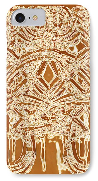 Ethnic Abstract Unique Art Print Original Bown Beige Earthy Cool Contemporary Art House Decorator  Phone Case by Marie Christine Belkadi