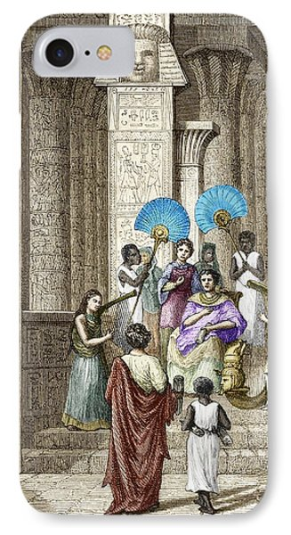 Euclid And Ptolemy Soter, King Of Egypt Phone Case by Sheila Terry