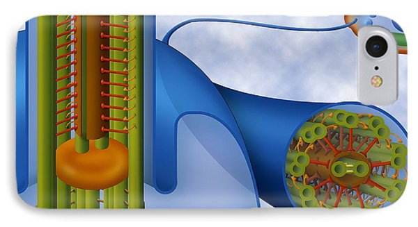 Eukaryotic Flagellum Structure, Artwork Phone Case by Art For Science