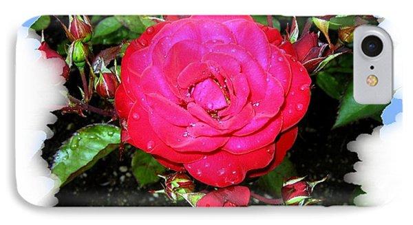 Europeana Roses And Raindrops Phone Case by Will Borden
